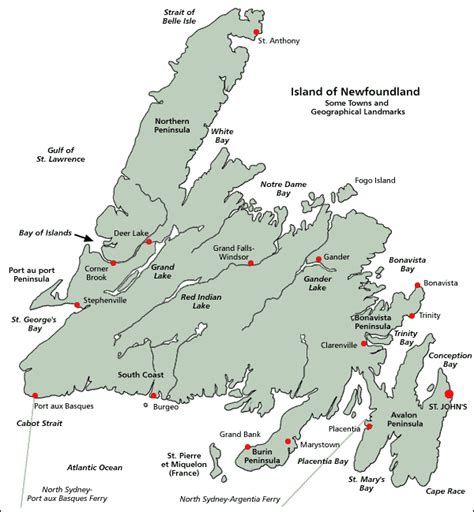 newfoundland map about newfoundland