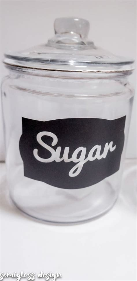 diy kitchen canister labels free silhouette studio file diy canister labels with a silhouette with free cut files