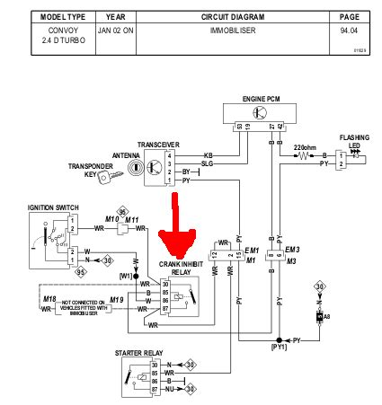 wiring diagram circuit immobiliser connect engine free