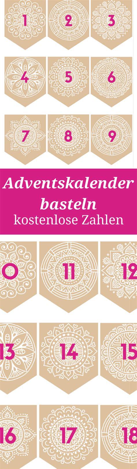 Kostenlose Vorlage Adventskalender adventskalender basteln zahlen zum ausdrucken meine svenja