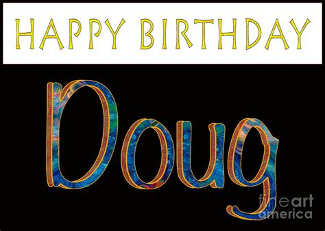 Duvet Clip Happy Birthday Doug Abstract Greeting Card Artwork By