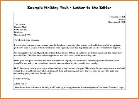 8 how to write letter to editor exles ledger paper