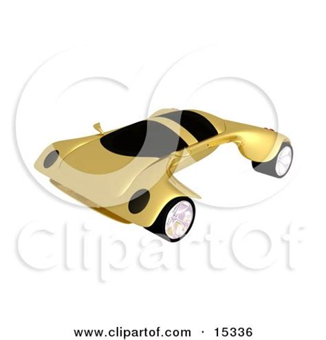 golden fast royalty free rf sports car clipart illustrations