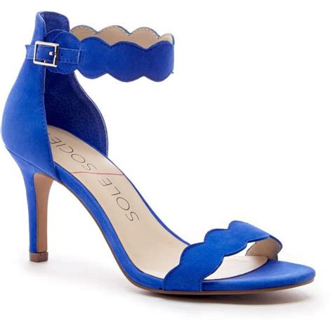 royal blue high heel sandals sole society pia mid heel sandal 75 liked on polyvore