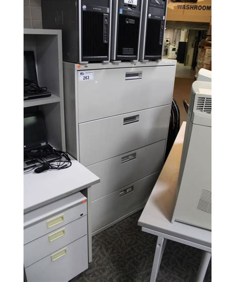 hon 4 drawer lateral file cabinet hon grey 4 drawer lateral file cabinet able auctions