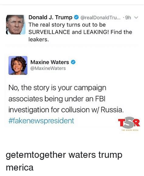 understanding the new trump caign collusion story funny maxine waters memes of 2017 on sizzle trumped
