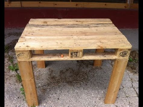 pallet table easy to make diy youtube