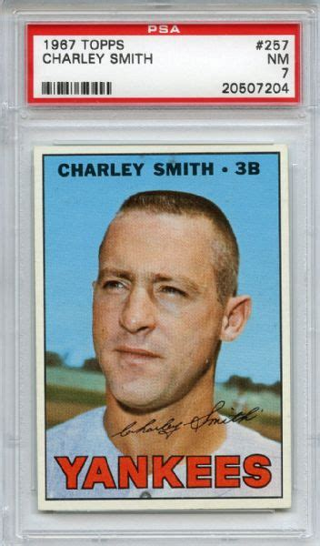 contact charley smith lot detail 1967 topps 257 charley smith psa nm 7