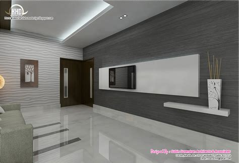 Kerala Interior Home Design by Black And White Themed Interior Designs Kerala Homes