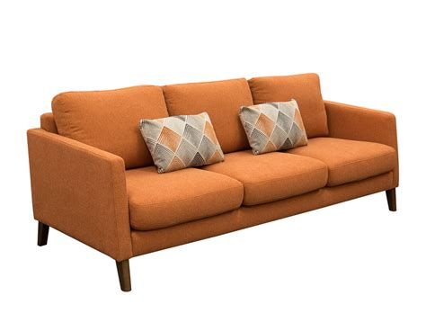 orange loveseat orange fabric sofa sunset collection orange fabric sofa ds