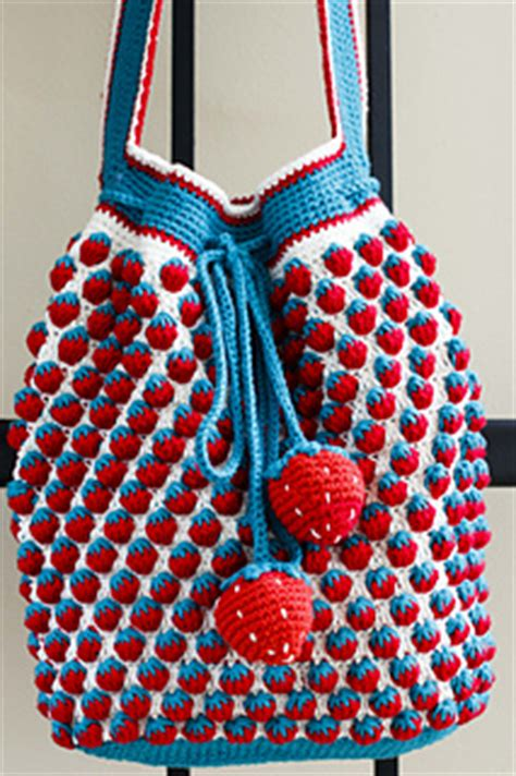 free crochet pattern strawberry bag ravelry strawberry drawstring bag pattern by iin wibisono