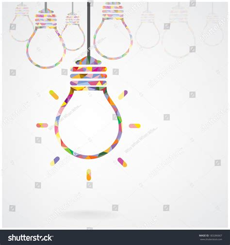 creative background design vector creative light bulb idea concept background stock vector