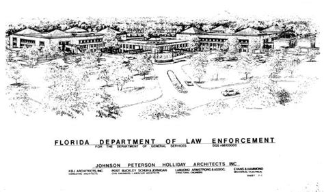 Florida Department Of Enforcement Records Florida Memory An Artist Renderings Of The Florida Department Of Enforcement S
