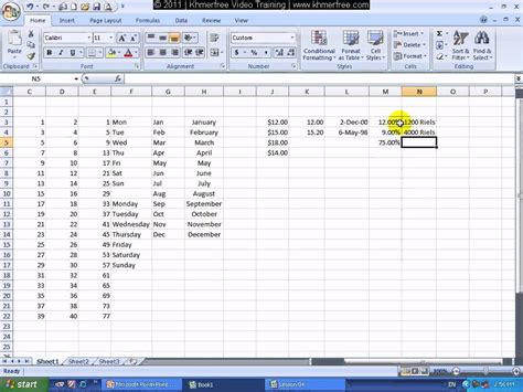 microsoft excel 2007 format cells as us currency microsoft excel 2007 tutorial how to use format cells