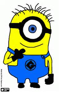 minion coloring printable minion