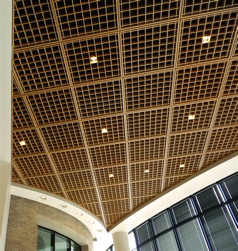 wood grid ceiling woodcube image gallery architectural surfaces