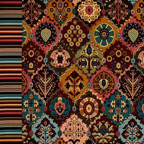 kilim pattern fabric left bank kilim large dark multi discount designer