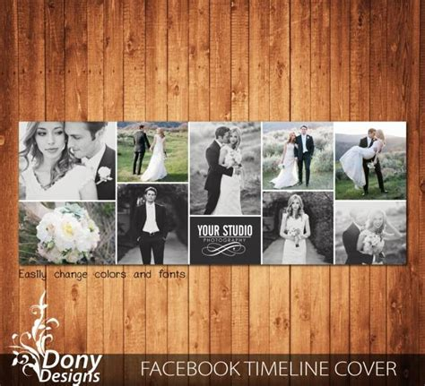 wedding timeline cover template photo collage