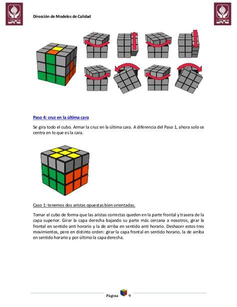 tutorial cubo rubik paso a paso procedimiento para la resolucion del cubo de rubik