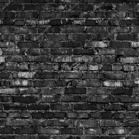 black brick wall brick wall black relief texture with shadow stock