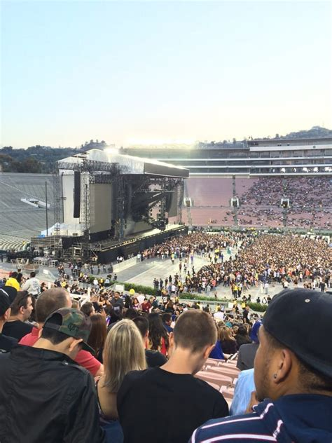 rose bowl section 3 view from section 4 row 55 seat 120 for rihanna eminem
