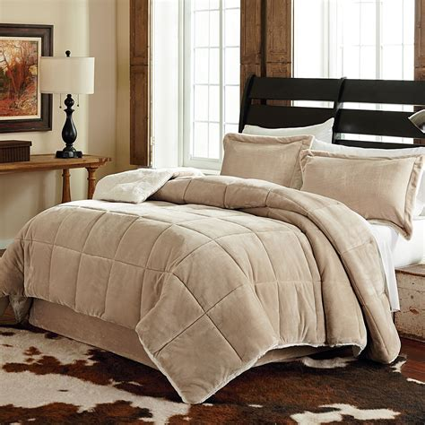 Velvet Comforter Set King by Velvet Plush 3 Reversible Comforter Set King