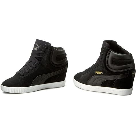 Sneakers Wedges Black White sneakers vikky wedge 357246 03 black white