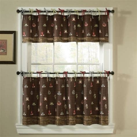 kitchen cafe curtains ideas 1000 ideas about coffee themed kitchen on