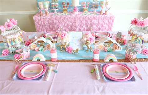 Glass Decorations For Home by Unicorn Birthday Party Ideas