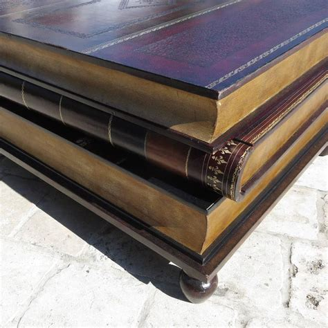 Leather Stacked Books Coffee Table By Maitland Smith At Stacked Books Coffee Table