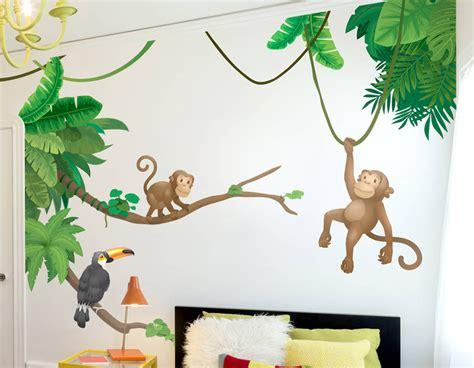 Wallsticker Wallstiker Animal Paradise Wall Paper Sticker Stiker jungle monkey children s wall sticker set contemporary wall stickers