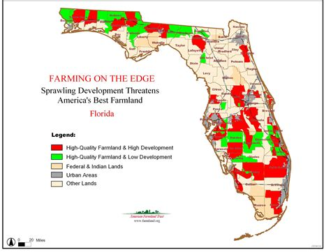 agricultural map of florida farming on the edge state maps american farmland trust