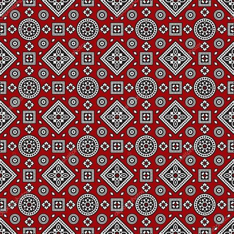 svg pattern browser red sindhi ajrak pattern vector illustration stock
