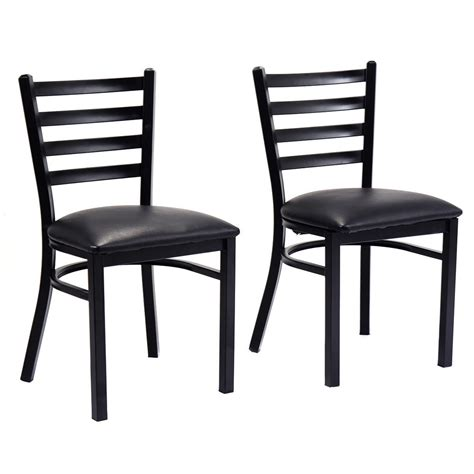 Dining Chairs Set Of 2 Set Of 2 Metal Dining Chairs Upholstered Home Kitchen Side Chair Furniture New Ebay
