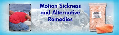 home cures himalynan salt motion sickness