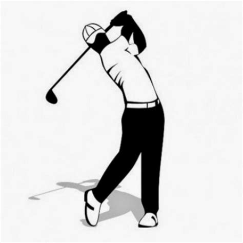 golf swing vector golf player clipart clipart for work