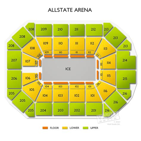 allstate arena seating pictures allstate arena tickets allstate arena information