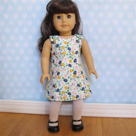 clothes pattern for 18 inch doll reversible a line dress pattern for 18 inch doll fits