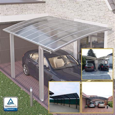 Alu Carport Bausatz by Doppelcarport Bogendach Garage Unterstand Aluminium