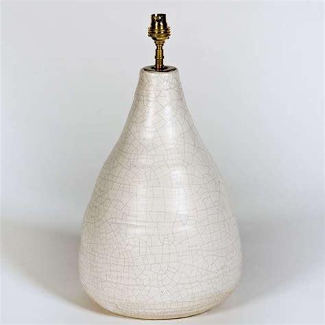 white ceramic table l ceramic table l base in white crackled glaze at 1stdibs