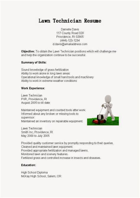 alluring lawn care description resume for your tary aide resume