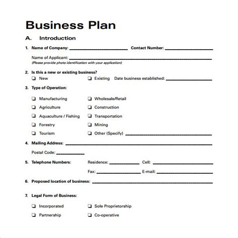 agriculture business plan template free business plan template for agriculture for free