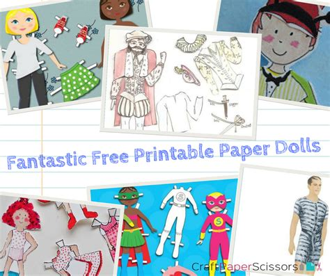 Free Printable Paper Crafts - 17 fantastic free printable paper dolls craft paper scissors
