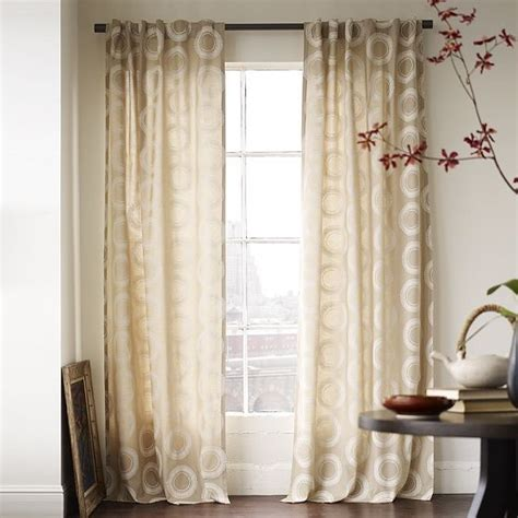drapes modern wood block circles window panel modern curtains by