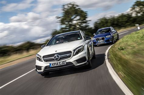 mercedes rs mercedes gla45 amg vs audi rs q3 test review by car