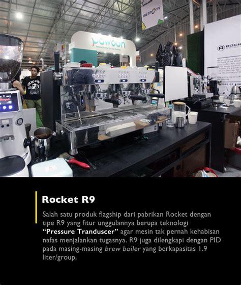 Mesin Kopi Rocket yang menarik dari jakarta coffee week cikopi