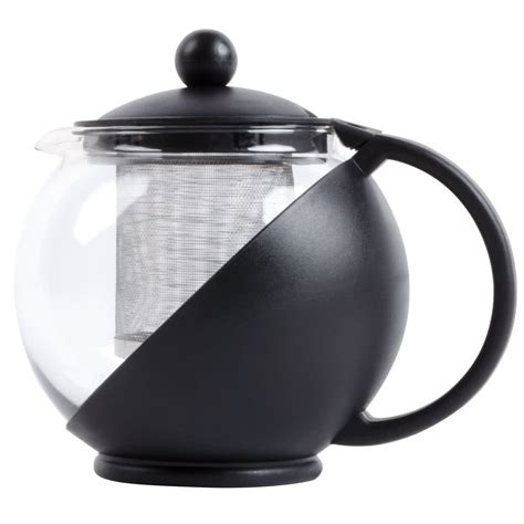 Infuser Tea Pot 25 oz tempered glass tea pot infuser with stainless steel