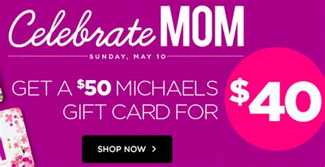 Michaels Gift Card Deal - gift card deals michael s craft store 50 gift card for 40 coupons 4 utah