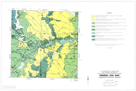 soil map of texas general soil map tarrant county texas the portal to texas history