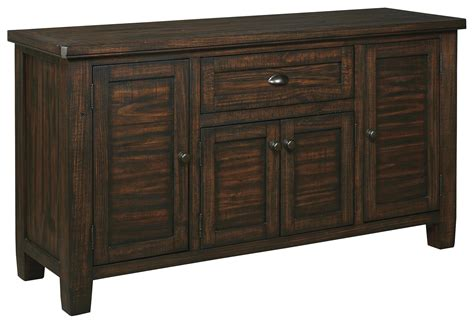 Dining Room Furniture Server Signature Design Trudell D658 60 Solid Wood Pine Dining Room Server Dunk Bright